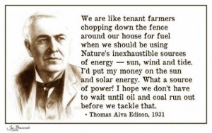 Edison on Solar Energy
