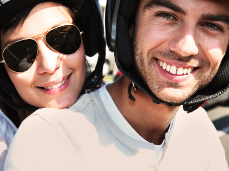 Couple-on-bike