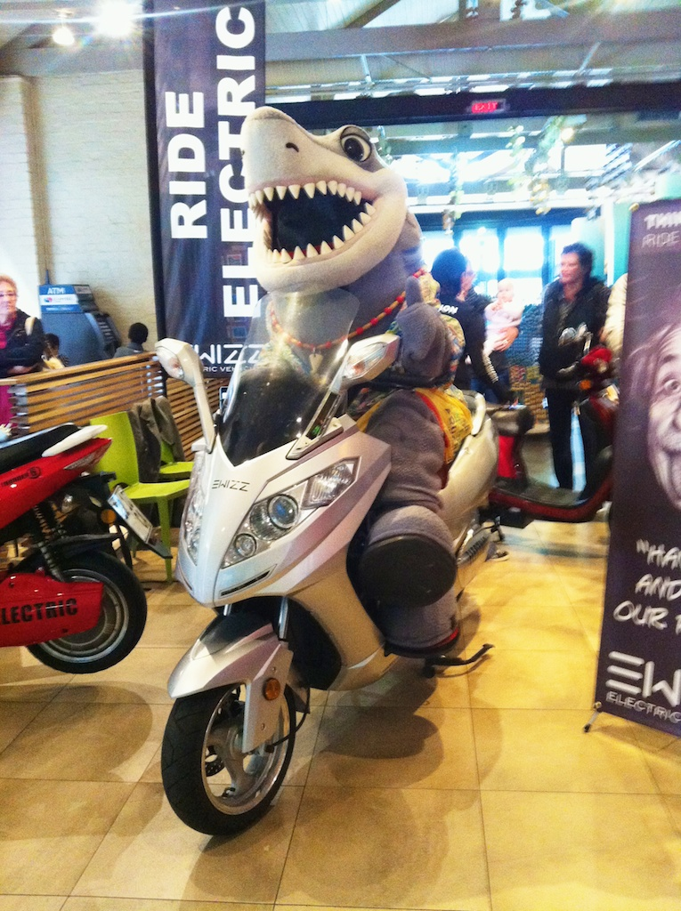 Sharks on electric scooters