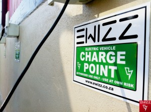 Special EWIZZ electric scooter charge points