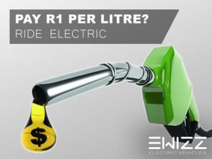 Pay R1 per litre for fuel. Ride electric